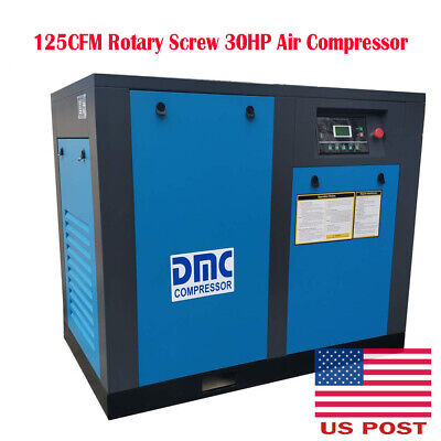 125CFM Rotary Screw 30HP Air Compressor 115psi 3-Phase Electrical 60Hz 3600RPM