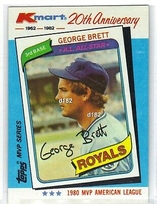 1982 Topps Kmart 20th Anniversary George Brett Baseball Card Kansas City Royals
