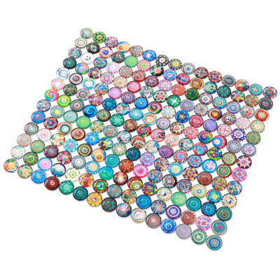 200Pcs 10mm Mixed Round Mosaic Tiles Glass Supplies fr Jewelry Making Crafts AU