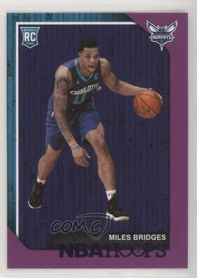 2018 2019 Nba Hoops Miles Bridges Rc Rookie Blue Parallel