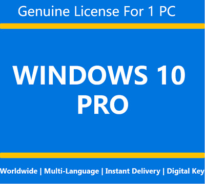 Microsoft Windows 10 Pro 32/64 Bits Product Key Code Instant Ship Worldwide