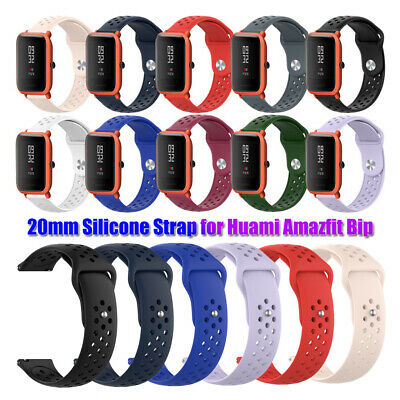 Classic Soft Watch Band Sport Strap 20mm Silicone For Huami Amazfit Bip