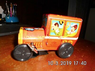 Blechauto Tin Clippity Clop Car Wind Up Toy by Yone no 2077 Dachbodenfund