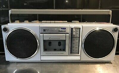 NATIONAL RX-4930 Stereo Retro Boombox Vintage Radio Cassette Recorder