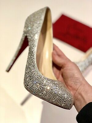 cac8d8cffea CHRISTIAN LOUBOUTIN STRASSED Sparkle High Heel Shoes, Wedding Occasion  Shoes UK6