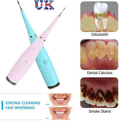 Electric Tooth Stains Tool Sonic Dental Scaler Tartar Calculus Plaque Remover UK