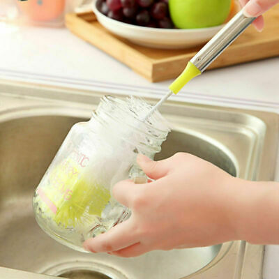 Long Handle Bottle Cleaner Cleaning Brush Cup Inwall Scrubbing Tool Dish Washer