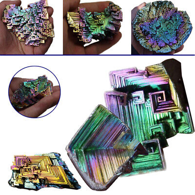 40-60g Colorful Bismuth Crystals High Purity Rainbow Bismuth Crystal Specimen