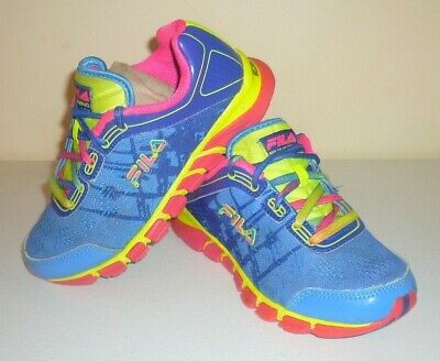 1fb25242dd Girls Size 1 Fila 3Hr18043-466 Energized Rubber Running Sneakers Tennis  Shoes