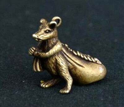 Collection old Asian China old antique brass mouse Small pendant