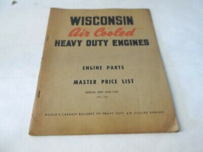 Wisconsin Air cooled heavy duty engines engine parts master list
