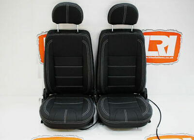 Twin Post Full Leather Pair Retrim Cover Kit Fit Land Rover Defender TDCI 90/110