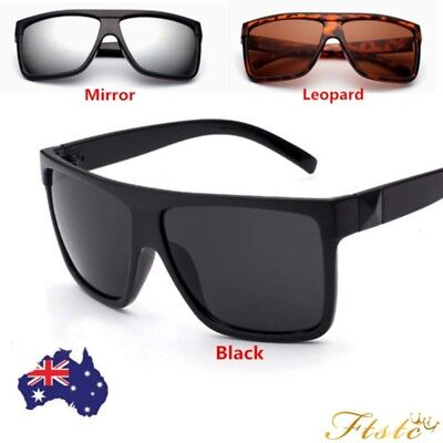 Black Retro Large Frame Sunglasses Mens Womens Fashion Oversized UV400 Eyewear