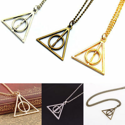 Hot Film Harry Potter The Deathly Hallows Triangle Pendant Necklace For Cosplay