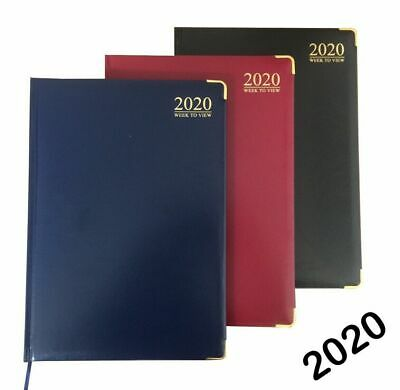 2020 Diary A4 / A5/ A6 Day to Page or Week to View Padded metal corner Diary