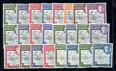 Falkland Dependencies thick & thin Map MH collection + odd variety WS14226