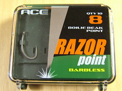 Ace RazorPoint Hooks Boilie Beak Point BBP Micro Barbed sizes 8
