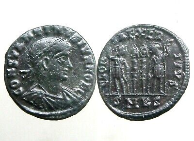 CONSTANTINE II BRONZE AE3_______Son of Constantine the Great_______TWO SOLDIERS