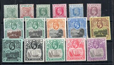 St Helena QV-KGV mint MH collection WS14232