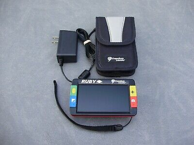 """Freedom Scientific Ruby 5"""" Lcd Handheld Low-Vision Video Magnifier"""