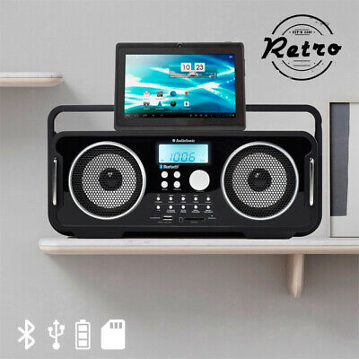 I3510150 104762 Radio Vintage Bluetooth Rechargeable AudioSonic RD1556