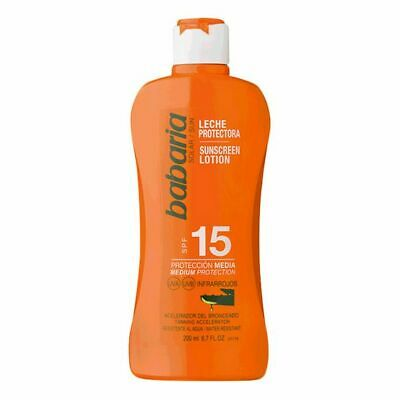 S0560693 111679 Lait solaire Babaria Spf 15 (200 ml)
