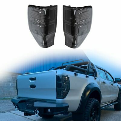 Smoked Tail Lights - UK Spec with Fog & Reverse for Ford Ranger T6 Raptor 2016+