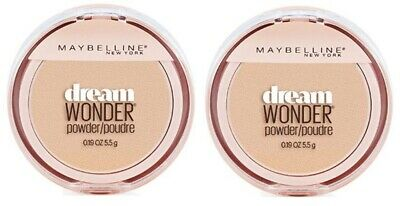 Set of 2 Maybelline Dream Wonder Compact Face Pressed Powder 40 Nude