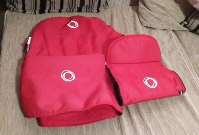 bugaboo cameleon set canvas red hood apron and seat liner fit cameleon 1 and 2--