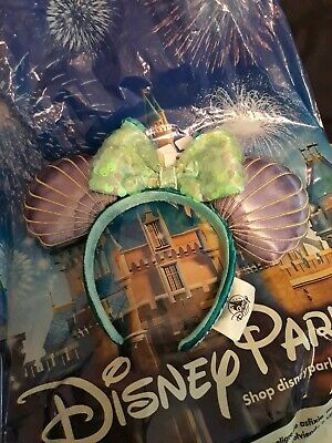 Disney Parks The Little Mermaid Ariel Iridescent Minnie Seashell Ears Headband
