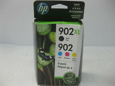 HP 902XL / 902  Ink Set Genuine * FLAWED BOX * SHIPS OVERBOXED * Date: Feb 2021