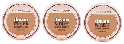 Set of 3 Maybelline Dream Wonder Compact Face Pressed Powder 93 Honey Beige
