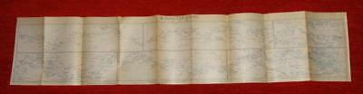 1915 IMPERIAL JAPANESE RAILWAY MAP of RIVER YANGTZE KIANG CHINA