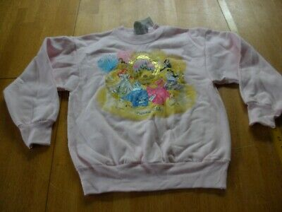Princess Club sweatshirt 6 princesses Disneyland M kids Disney NWT 2000s pink