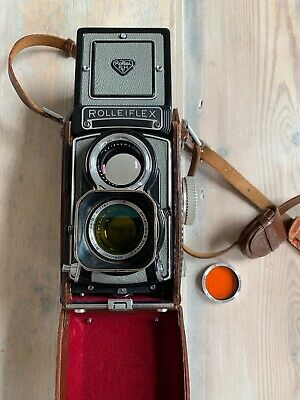 Rolleiflex T 75mm f/3.5 Tessar Grey TLR 6x6 Film Camera