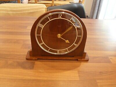 Vintage Smiths Oak Cased Mantel Clock