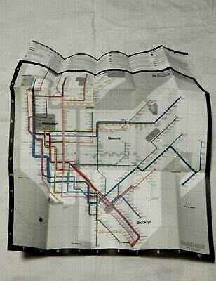 Massimo Vignelli Subway Map 1978.Original 1978 Massimo Vignelli New York City Subway Map Guide Mta Nycta