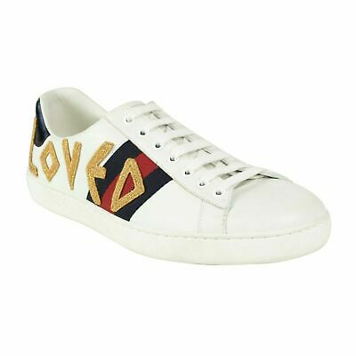de3ba7c24 NIB GUCCI WHITE Leather Ace Embroidered Dragon Lace Up Sneakers ...
