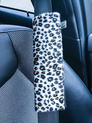 Stylisches Gurtpolster Leopardenfell - Look - ***Made in Germany***