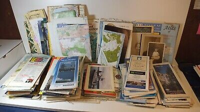 Large Lot Vintage Maps Ephemera RRPC Photos Advertisement