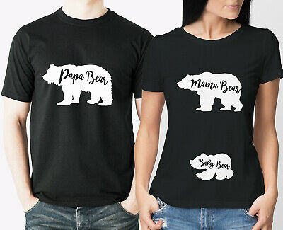 Mutter /& Baby Erstlings Set Babybody /& T-shirt Papa Mama Bear /& Baby Bear