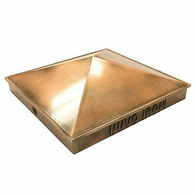 "Nuvo Iron Decorative Pyramid Aluminium Post Cap for 6"" x 6"" Posts -Copper Plated"