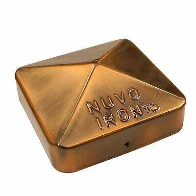 "Nuvo Iron 3.5"" x 3.5"" Eazy Cap (for Posts with Rounded Corners) - Copper Plated"