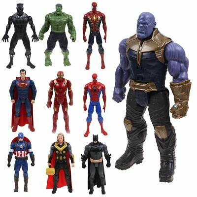 12inch The Avengers Infinity War Hulk Spiderman Thanos Souding Glowing Figure AU