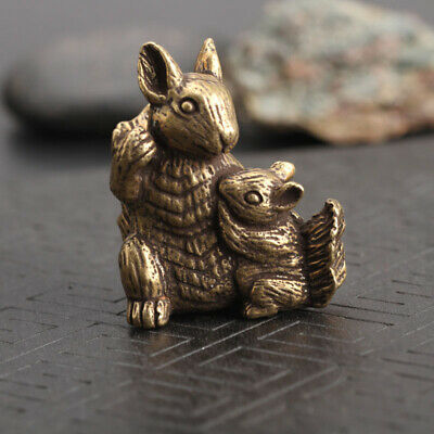 Chinese Collection old Asian Antiques Zodiac Rabbit Exquisite Tea Pet statue