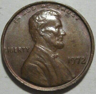 = 1972 / 72 AU/BU DOUBLE DIE Lincoln Cent, Doubled Details, FREE Shipping