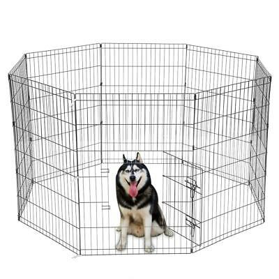 """New 36"""" Pet Dog Cat Tall Wire Fence Folding Exercise Pens Yard Play Pen 8 Panel"""