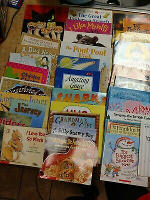 Lot of 34 Children's Mixed  Scholastic Paperback books (Teachers) Picture Books