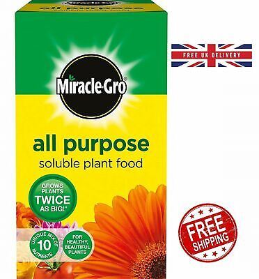 Miracle-Gro All Purpose Soluble Plant Food Grows Plants Twice as BIG Carton 1 kg