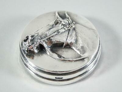 Henryk Winograd Silver Repousse Horse Head Paperweight HW999